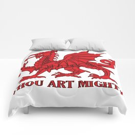 Thou Art Mighty Red Dragon Welsh Rugby Comforters
