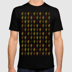 Cactus 2, Design, Vector Black Mens Fitted Tee MEDIUM
