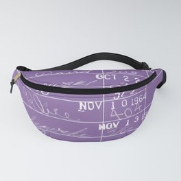 Library Card 23322 Negative Purple Fanny Pack