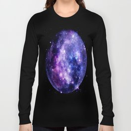 Galaxy Planet Purple Blue Space Long Sleeve T-shirt