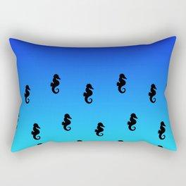 Under the Sea(horse)-Dark to Light Rectangular Pillow