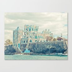 blue coral castle Canvas Print