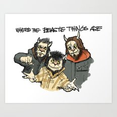 Where The Beastie Things Are Art Print