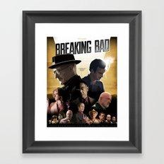 Breaking Bad - complete poster Framed Art Print