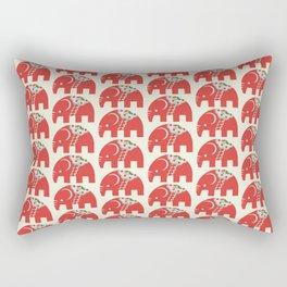 Swedish Elephant Rectangular Pillow