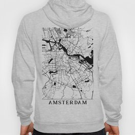 Amsterdam Minimal Map Hoody