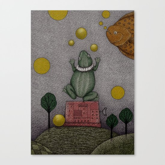 Frogking (2) Canvas Print