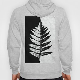 Natural Outlines - Fern Black & White Marble #853 Hoody