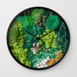 Moss Cluster Wall Clock