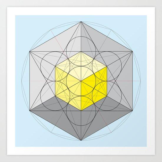 Metatron's Cube Var. 1 Art Print