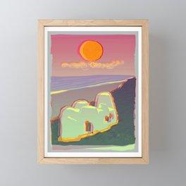 Red Moon Summer Vibrations Framed Mini Art Print