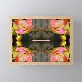 Flower collage Framed Mini Art Print