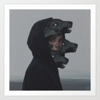 Art Prints featuring Wolf Pack by yurishwedoff