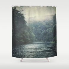 valley and river Shower Curtain