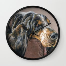 Hound Dog Wall Clock