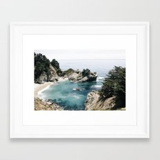 Mcway Falls Faded Framed Art Print