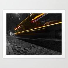 DUMBO Light trail Art Print