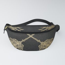 Gold Arrows on Black Fanny Pack