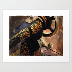 Antique Sewing Machine Art Print
