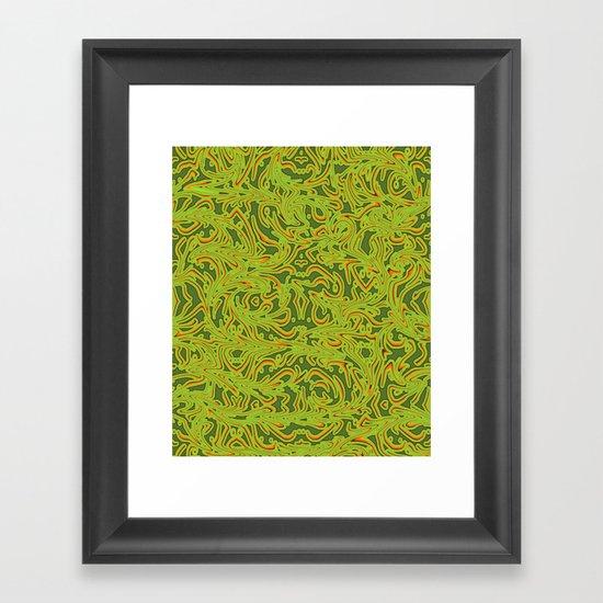 Sixties Swirl Framed Art Print
