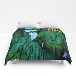 Statue of Liberty 4th of July tribute Comforters