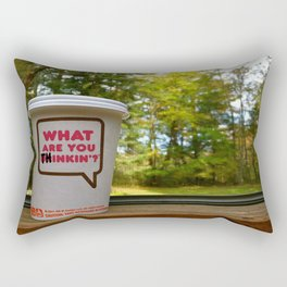 What Are You Thinkin'? Rectangular Pillow