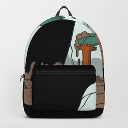 Zombie hand grave headstone Backpack