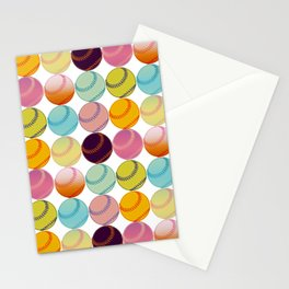 Pop Art Baseballs Stationery Cards