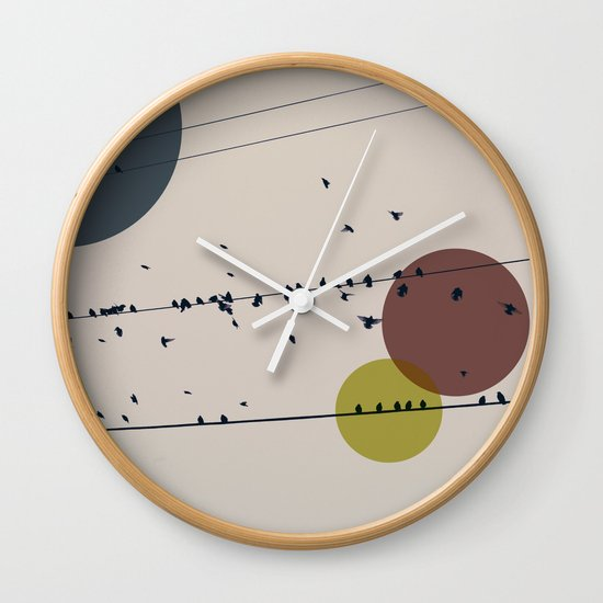 Chaos On The Wires Wall Clock