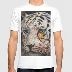 tiger White MEDIUM Mens Fitted Tee