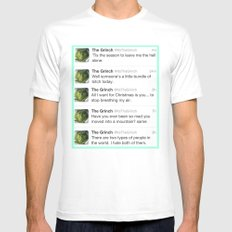 The Grinch Mens Fitted Tee MEDIUM White