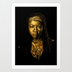 Michonne Golden Art Print