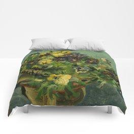 """Vincent van Gogh """"Basket of Pansies"""" Comforters"""