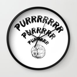 The Purrfect Connection Wall Clock