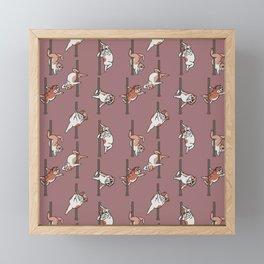 English Bulldog Pole Dancing Club Framed Mini Art Print
