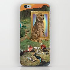 The giant cat and magical frame iPhone & iPod Skin
