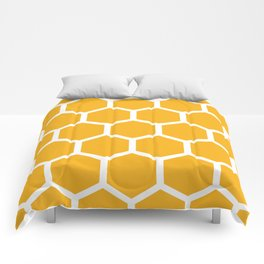 Honeycomb pattern - yellow Comforters