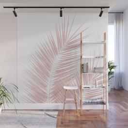 Blush Pink Palm Leaves Dream - Cali Summer Vibes #1 #tropical #decor #art #society6 Wall Mural