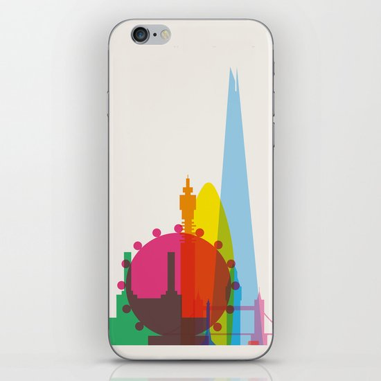 Shapes of London. Accurate to scale iPhone & iPod Skin