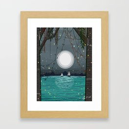 Adventures is Out there - Moonshine Lake  Framed Art Print