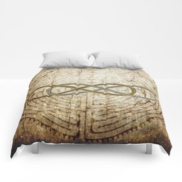 Double Infinity Silver Gold antique Comforters