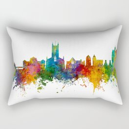 Stoke-on-Trent England Skyline Rectangular Pillow