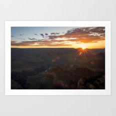 Grand Canyon National Park - Sunrise at South Rim Art Print