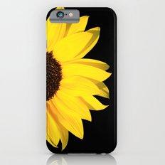 colored summer ~ sunflower black iPhone 6s Slim Case