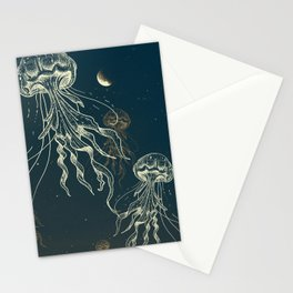 Jellyfish abduction Stationery Cards
