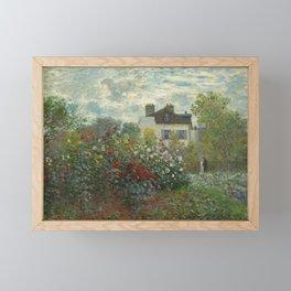 Claude Monet  A Corner of the Garden with Dahlias Framed Mini Art Print