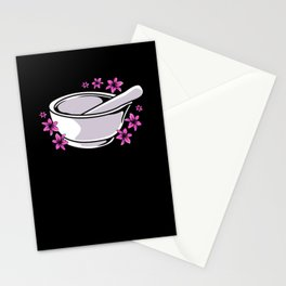 Pharmacy Mortar And Pestle Stationery Cards
