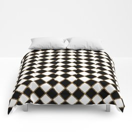 Geometric ornament gold seamless pattern Comforters