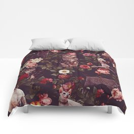 Cat and Floral Pattern Comforters