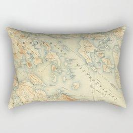Vintage Map of Lake Winnipesaukee (1907) Rectangular Pillow